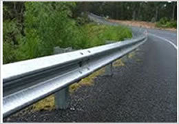 W Beam Guard Rails Waved Line Crash Barriers Good Shock